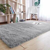 Noahas Super Soft Modern Shag Gray Area Rugs Fluffy Living Room Carpet Comfy Bed
