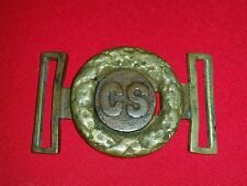 civil war confederate belt plate buckle Rarity of an eighth coin style CS .