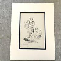 1900 Antico Stampa Storico Moda William The Conqueror Periodo Costume