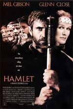 MEL GIBSON glenn close HAMLET MOVIE POSTER shakespearian TRAGEDY 24X36 great