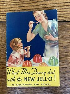 Vintage 1933 JELL-O, Jello Recipe color Booklet  book Mother & Daughter
