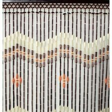Perlenvorhang Hanoi, Holz Perlen, 100x200 cm, Bambus Türvorhang, Bambusvorhang