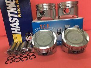 YCP 75mm STD Vitara Pistons Low Comp + Hastings Rings Honda Crx Civic D16 Turbo