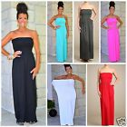 MIRACLE FIT MAXI TUBE DRESS STRAPLESS SEAMLESS KNIT EMPIRE WAIST 6 COLOR S M L