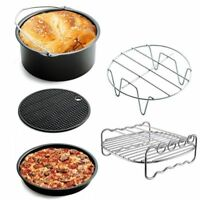 1 Set Air Frying Pan Accessories Fryer Baking Basket Pizza Plate Grill Pot Mat