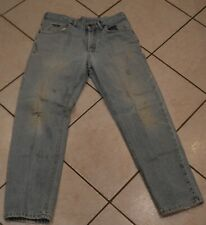 MEN'S THRASHED LEE JEANS~33 X 30~HOLES~STAINS~ZIPPER FLY~LOTS OF WEAR~DISTRESSED