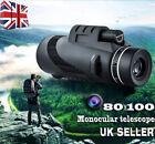 80x100 Full HD Monocular Telescope Phone Camera Zoom Starscope Birds Watching
