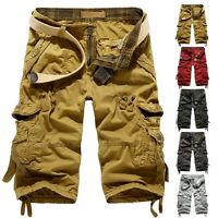 Men Military Camouflage Short Pants Combat Work Cargo Shorts Trousers Overalls