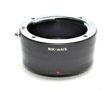 Nikon F mount Lens to Micro 4/3rds Body Mount Adapter