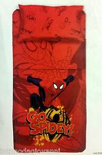Completo Letto Singolo Spiderman Lenzuola Fotografico cn sotto Cotone 100% Novia