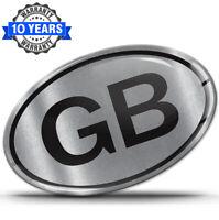 3D Silikon GB UK Aufkleber Auto Sticker Grossbritannien Länderkennzeichen Silber