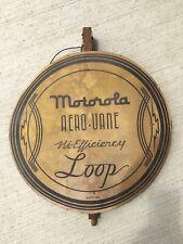New ListingVintage Motorola Aerovane Hi Efficiency Loop Antenna Old Wood 1940s Rare