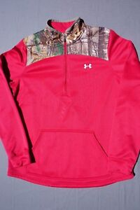 Under Armour Loose Pullover Sweater Real Tree Camo Womans Size L