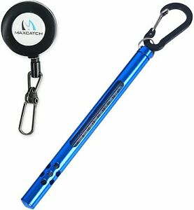 Handy Stream Thermometer with Fishing Zinger, Black/Green/Blue Fishing Thermomet
