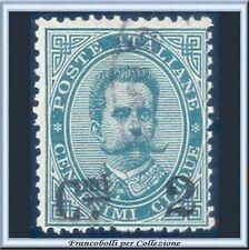 1891 Italia Regno Soprastampato 2 c. su 5 cent. verde n. 56 Usato