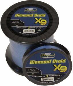 Momoi Diamond Braid Generation III Fishing Line X9 - Blue - 50lb - 3000 yards