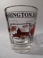 WASHINGTON DC SCENERY RED CLASSIC DESIGN SHOT GLASS SHOTGLASS
