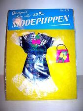 Puppenkleid für Barbie Steffi Petra und alle anderen 29cm Modepuppen  NEU!! 70er