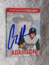 San Diego Padres Corey Adamson Signed 2013 Fort Wayne TinCaps Card Auto