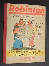 ROBINSON. Album éditeur des n°131 à 156. 3e année 1938/1939. TTB