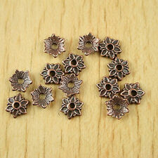 500pcs antiqued copper tone flower spacer bead caps H1940
