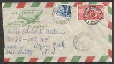 Italy To Usa Cover 1950 w 100 Lire Family Scott #477 +1