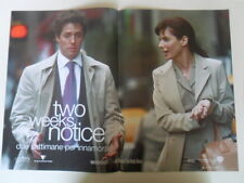 "LOCANDINA FILM ""TWO WEEKS NOTICE - DUE SETTIMANE PER INNAMORARSI""  (A)"