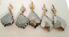 Lot of 5  FACETED CUT 30% LEAD GOLDEN TEAK CRYSTAL - Precio Mayorista