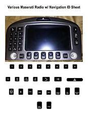 Various Maserati Radio w/ Navigation