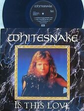 White Snake ORIG UK PS 12 Is this love VG+ '84 David Coverdale Hard Rock Metal