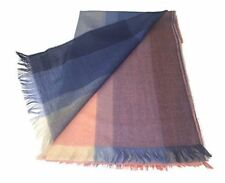 100% Extra Fine Merino Oversize Scarf/Wrap - Pastel Blues, Purples and Pinks