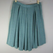 New LuLaRoe Womens Plus 3X Madison Soft Knit Pleated Skirt Pockets Cotton Blend
