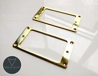 2x Metal Humbucker Pickup Mounting Ring Surrounds (Gold) New Pair