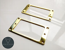 2x Metal Humbucker Pickup Mounting Ring Surrounds (Gold) New Pair