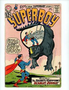 Superboy #102, VG-, 1963