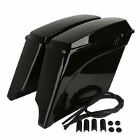 "5"" Stretched Extended Hard Saddlebags For Harley Touring Electra Glide Road King"