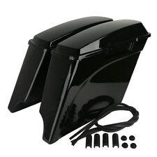 "5"" Stretched Extended Hard Saddle Bags For Harley Electra Road Glide FLHT FLTR"