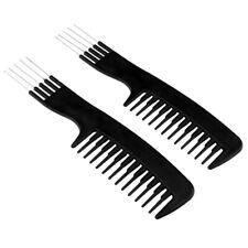 2pcs Metal Pin Detangling Hair Comb Pick Hair Coloring Dyeing Comb Brush