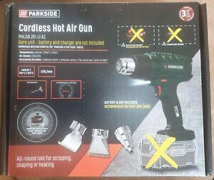 Cordless Hot Air Gun PARKSIDE PHLGA 20-Li A1  Bare Unit - Battery And Charger...