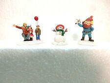 Hawthorne Town Village Figures for Winter Scene- just off a Layout-no boxs here-