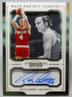 2017-18 Dominion Main Exhibit Legends Rick Barry Gold Auto #ML-RBY Near Mint /10
