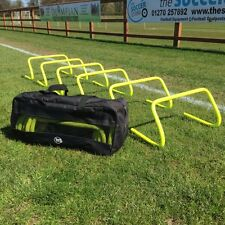 """Set of 6 Agility Hurdles 9"""" with Carry Bag - Football Speed & Agility Training"""