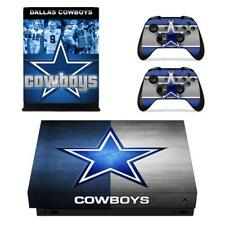 Dallas Cowboys NFL Xbox one X Console Vinyl Skin Decals Stickers Covers Set