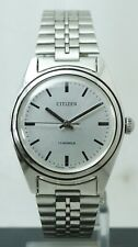 Vintage Rare Citizen 63-8579 Hand Winding cal.2520 Silver Dial MEN'S Good Watch
