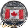 25 CENT DOLLAR DE CANADA 2015 - 50 ANS DU DRAPEAU CANADIEN (COLORÉE)