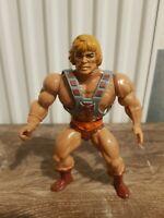 Rare Malaysia Soft Head He-Man Figure Masters Of The Universe  MOTU 80s Vintage