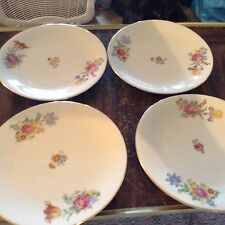 old plates with flower design