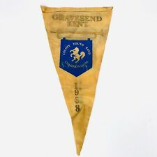 More details for gravesend kent scouting flag scout county youth band championships 1968 rare