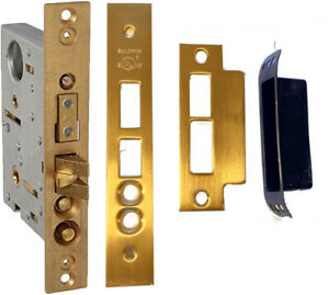 Baldwin® 6375.030.RLS Right Hand Lever Strength Mortise Lock 2-1/2 Backset Brass