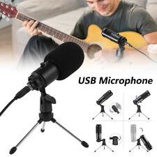 Kondensator-USB-Mikrofon Metall / Stativständer PC/Laptop Aufnahmemikrofon DE